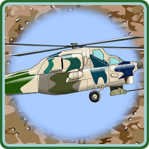 Helicopter Flying Desert