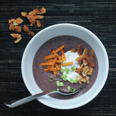 Roasted Purple Potato Soup