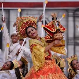 Sinulog Queen Contigent by Ferdinand Ludo - People Musicians & Entertainers ( viva pit senyor, cebu city, awesome event, sinulog 2016 )