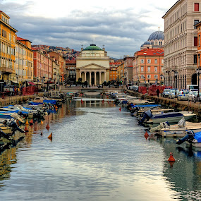 Trieste Grand Canal by Matej Skubic - Buildings & Architecture Public & Historical