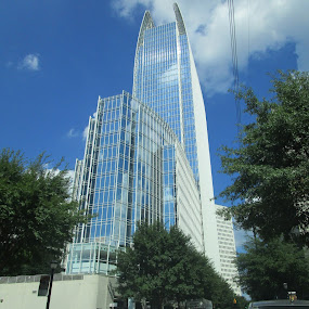 Glass Castle by David Jarrard - Buildings & Architecture Architectural Detail ( building, towers, glass, atlanta )