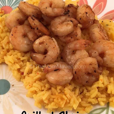 Grilled Shrimp with Yellow Rice