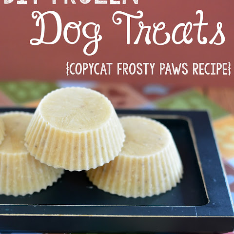 DIY Frosted Dog Treats Recipe {Copycat Frosty Paws Recipe}
