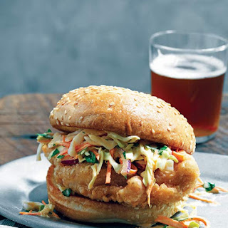 Beer-Battered Fried Chicken Sandwich