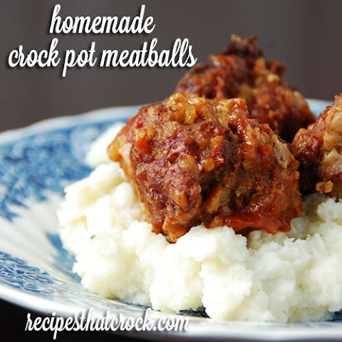 Homemade Crock Pot Meatballs