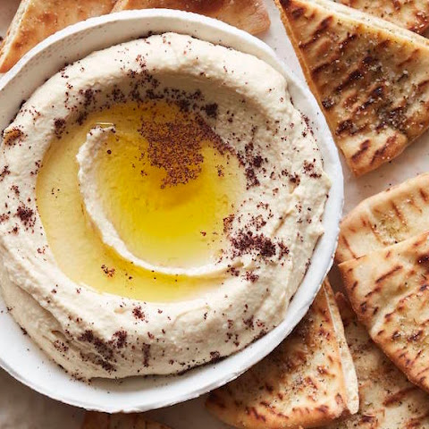 The Ultimate Hummus and Herbed Baked Pita Chips