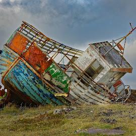 Last anchor II by Michaela Firešová - Transportation Boats ( broken, old, boat )