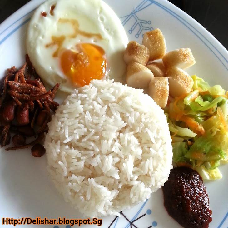 Nasi LemakLow Fat Version (Fragrant Coconut Milk Rice) Recipe