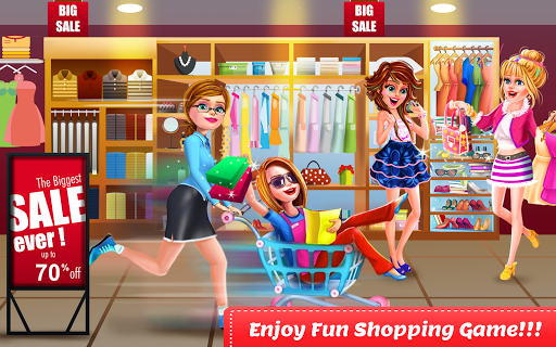 Shopping Mall Girl Cashier Game - Cash Register For PC