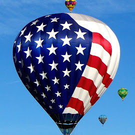 Red, White, Blue by Shawn Thomas - Transportation Other ( flag, colorful, hot, air, balloon, new mexico,  )