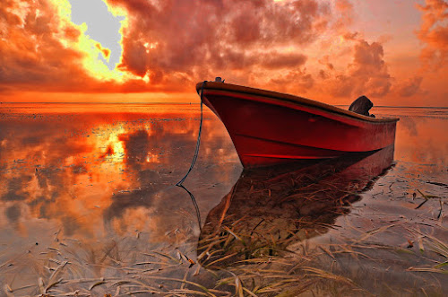 Red Boat... by Gunk Satria - Transportation Boats
