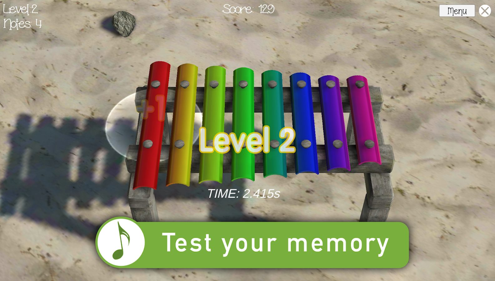 Music Memory Beach Screenshot 1
