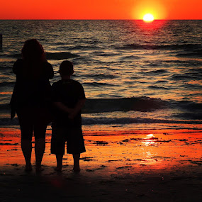 Mother's Day  by Ann Goldman - Novices Only Landscapes ( florida, sunset, clearwater, beach, mother's day,  )