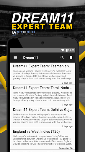 Dream11, MyTeam11, Fanmojo Preview and Predictions Apk Download Free for PC, smart TV