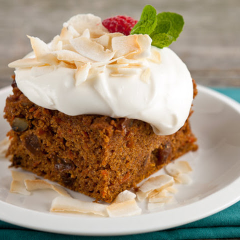 Gluten-Free Carrot Cake with Whipped Coconut Topping