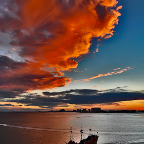 Clearwater Causeway by Mark Turnau - Transportation Boats (  )