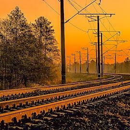 Povorot by Tarasij Zirob - Transportation Railway Tracks ( zirob, korosten )