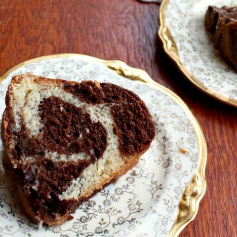Old Fashioned Marble Pound Cake