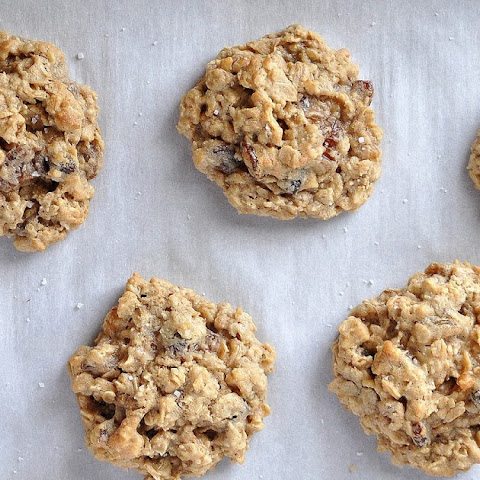 Toasted Walnut & Raisin Oatmeal Cookies