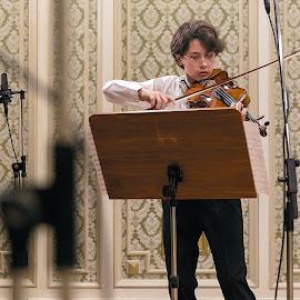 Young violin by Carla Coanda - Babies & Children Children Candids ( music, concert, musicians, violin, singing )