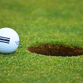 Just missed it by Dee Schindler VanBilliard - Sports & Fitness Golf ( t off, golf ball, golf, hole )