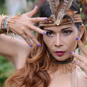 Pretty Tribe by Kresnata Adijaya - People Portraits of Women ( model, girl, tribe, pretty )