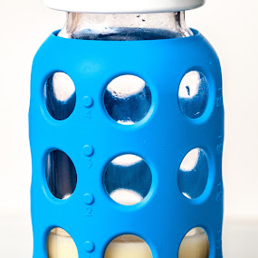 Baby Bottle by Frederic Rivollier - Products & Objects Healthcare Objects ( blue, milk, glass, baby, baby bottle )