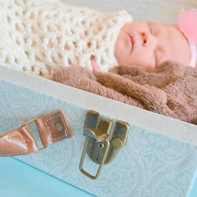 Suitcase Baby by Lizz Condon - Babies & Children Babies ( suitcase, baby, newborn )
