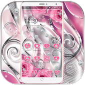 Pink Rose Love Diamond Theme APK for iPhone