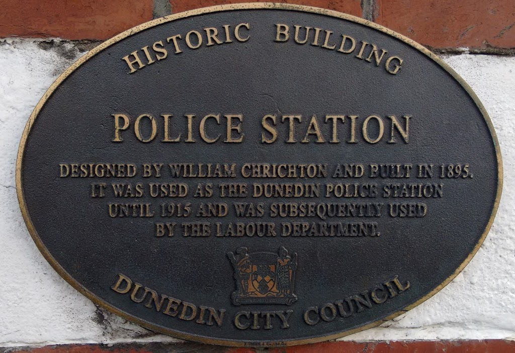 Transcript:Historic BuildingPolice Station Designed by William Chrichton and built in 1895.It was sued as the Dunedin Police Stationuntil 1915 and was subsequently used by the Labour ...