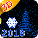 3D New Year 2018 LWP 💥🎄❄️