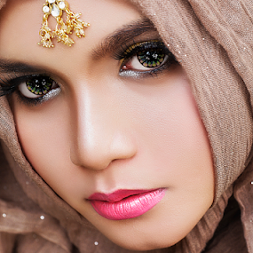 Mona by Abdy Photoworks - People Portraits of Women ( potrait, fashion, body parts, retouching, makeup, beauty, hijab, people, women, skin, eyes )