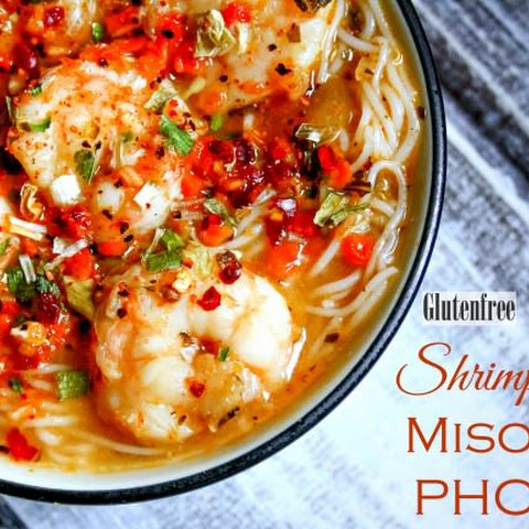 Gluten Free Shrimp Pho with Miso
