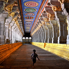 Rameshwaram Corridor by Prashanth UC - Buildings & Architecture Places of Worship