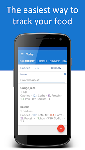 Food Diary Fitness app screenshot for Android