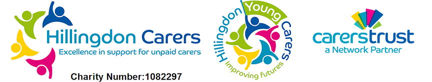 Hillingdon Carers, Hillingdon Young Carers and Carers Trust logos
