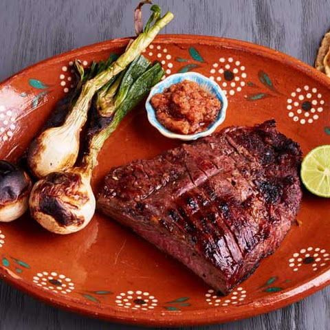 Mexican Style Carne Asada with a Lime Garlic Marinade