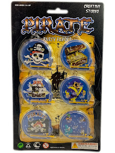 """Праздник, Праздник """"Игровой Набор Пират"""" Игра Лабиринт 6 шт."""