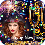 Happy New Year Photo Frame 2019 Icon
