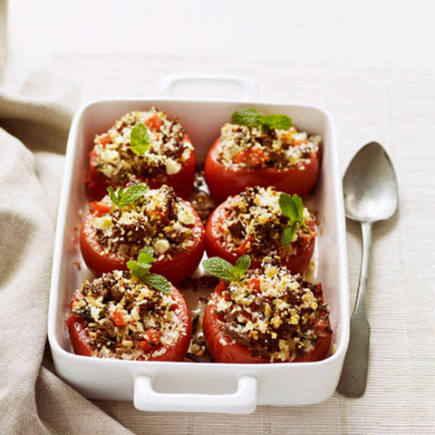 Stuffed Tomatoes with Lean Ground Beef