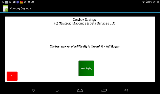 Cowboy Sayings - screenshot
