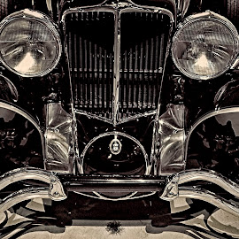 Cord by Gene Myers - Transportation Automobiles ( shotsbygene, 1936, lights, car, grill, bumbers, black and white, tires, cord, trim, fenders, gene myers,  )