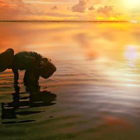 Morning Ripples by Alit  Apriyana - Landscapes Sunsets & Sunrises