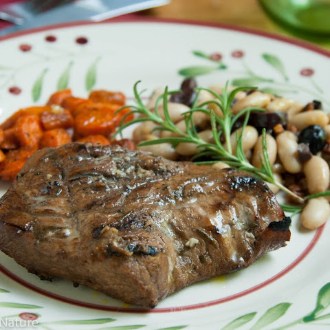 Rosemary Balsamic Pork Tenderloin Steaks