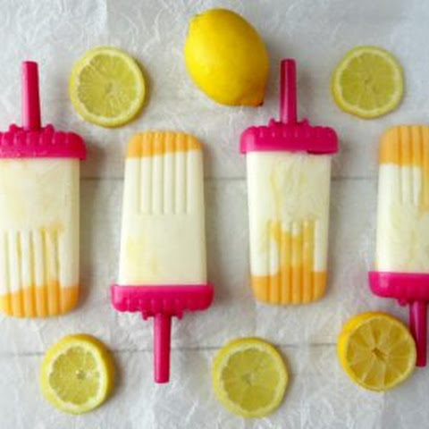 Healthy Lemon Cheesecake Popsicles