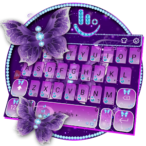 Purple Butterfly Keyboard Theme For PC / Windows 7/8/10 / Mac – Free Download