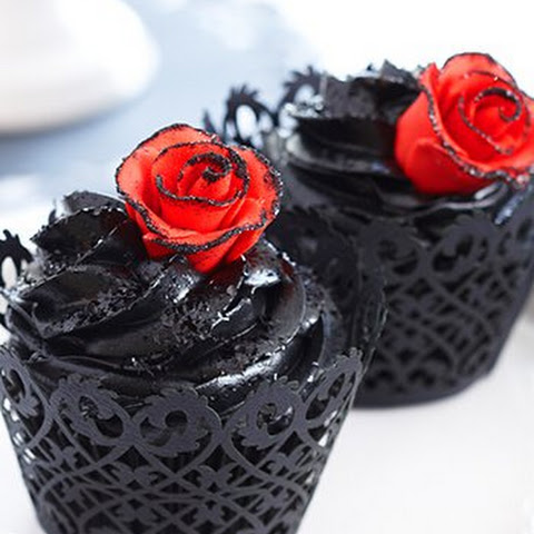Blood Rose Cupcakes