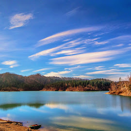 hill and lake by Eseker RI - Landscapes Mountains & Hills (  )