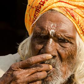Pilgrim by Ajay Halder - People Portraits of Men ( gangasagar, indian monk, pilgrim,  )