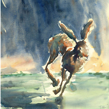 Rabbit art painting bunny watercolour